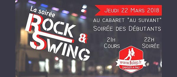 Soirée rock/swing 3step au Cabaret Au Suivant le 22 mars 2018