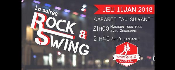 Soirée rock/swing 3step au Cabaret Au Suivant le 11 janvier 2018
