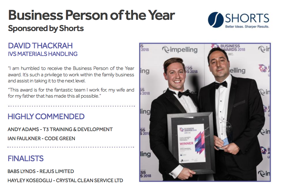 IVS business awards success
