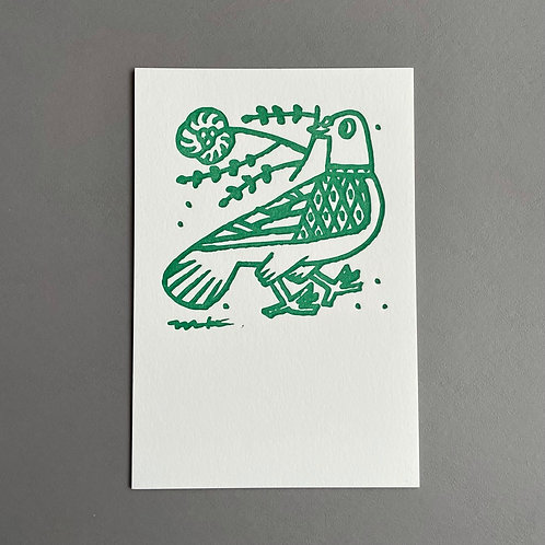 Letterpress Postcard : You deserve it