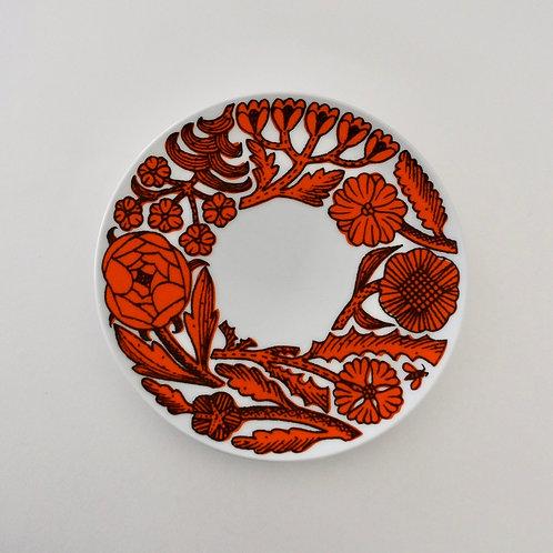 Path Cake Plate / Orange
