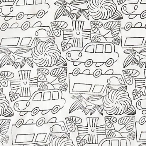 handkerchief /自動車モノクロ