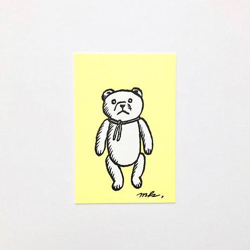 Letterpress Postcard : GERMAN BEAR