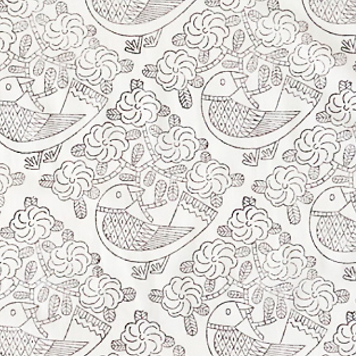 handkerchief /青い鳥 モノクロ