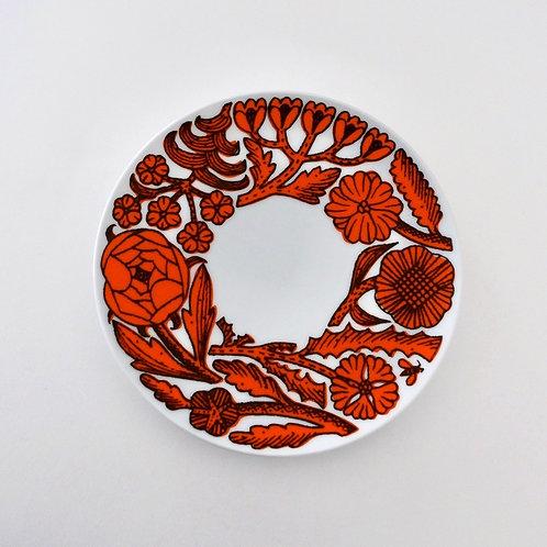 Path Cake Plate  Orange