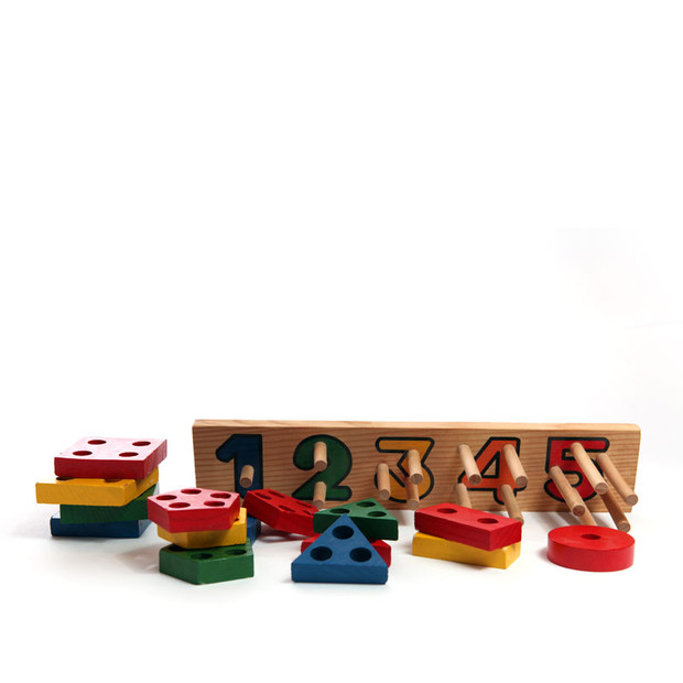 Wooden Numbers Toy $15