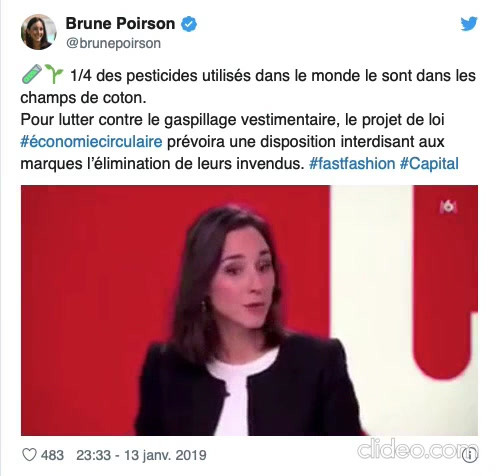 Le discours de la secrétaire d'Etat auprès de la ministre de la Transition écologique et solidaire, Madame Brune Poirson