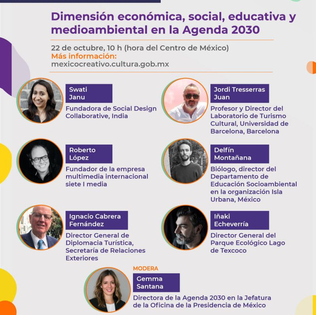 Webinar: Creative Mexico Forum by Mexican Ministry of Culture, October 2020