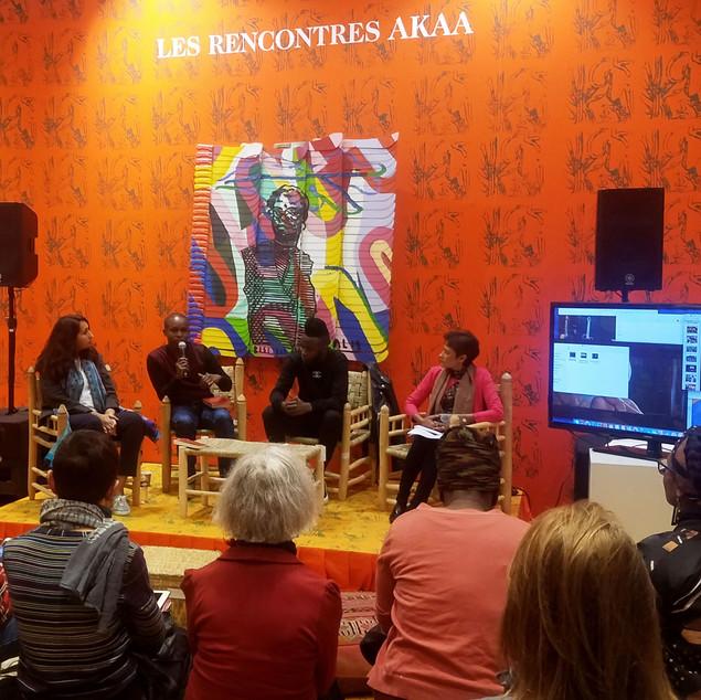 Panel Discussion: Creative Forces in Informal Settlements, AKAA Art Fair, Paris, November 2019