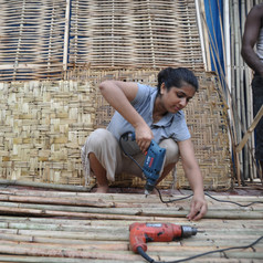 Shubhra - volunteer at work.JPG