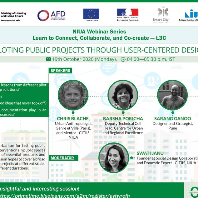 Webinar: Piloting Public Projects through User Centered Design, October 2020