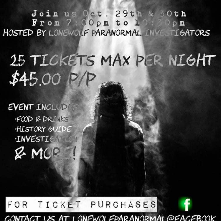 Lonewolf Paranormal Investigators presents The Haunted Theatre