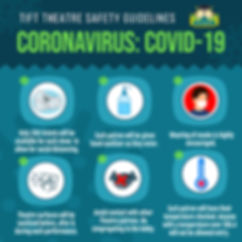 Tift Theatre Coronavirus Safety Graphic.