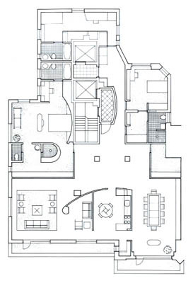 Central Park West Residence Drawing