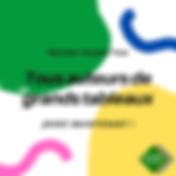 Vert et Jaune Confettis Carnaval Instagr