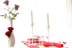 Diner en amoureux et rose