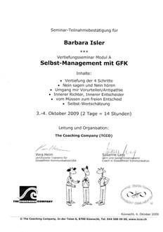 Kursbestätigungen_Selbst Management mit GFK