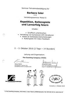 Kursbestätigungen_Repetition, Rollenspiele und Lernerfolg feiern