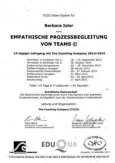 Diplom Empathische Prozessbegleitung von Teams