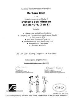 Kursbestätigungen_Systeme beeinflussen mit der GFK