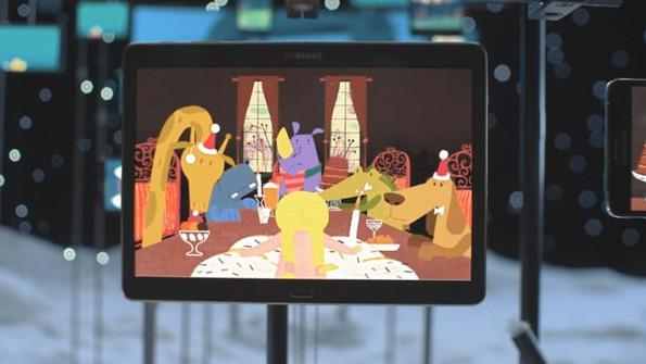 Samsung Holiday Dreams Tracing for animation Animal Studio
