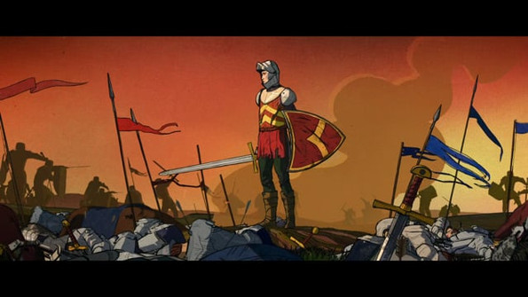 """""""The Kid Who Would Be King"""" Tracing and color for animation. Glassworks"""