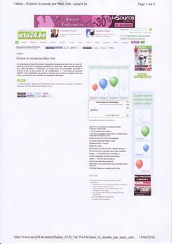 Actu 24  BE  2010