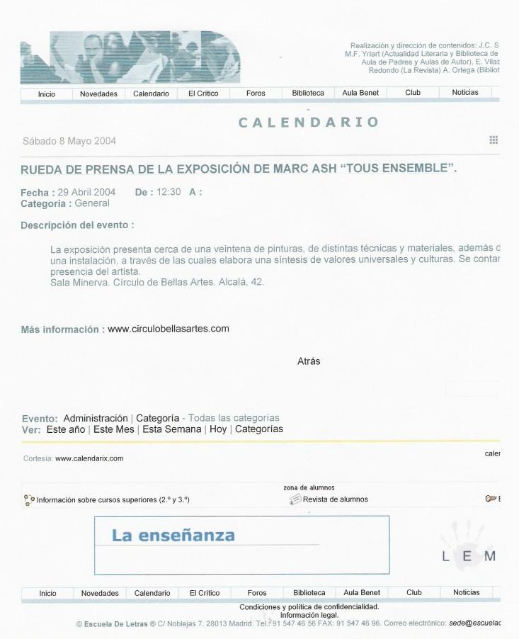 Calendario Cultural Madrid