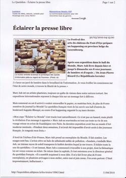 Le Quotidien (1) avril 2010
