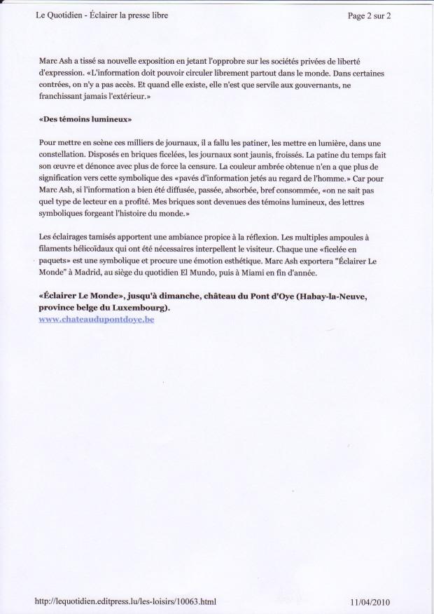 Le Quotidien (2) Avril 2010