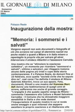 Giornale de Milano III
