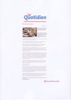 Le Quotidien (3) avril 2010