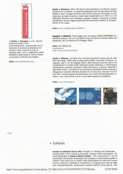 Arcalada Newsletter