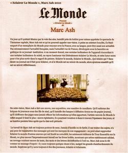 Moon Star Le Monde Avril 2010