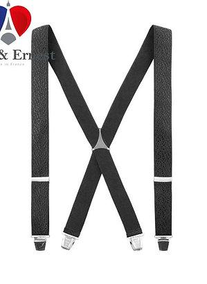 Bretelles Luce & Ernest, Tissées Noires aspect cuir