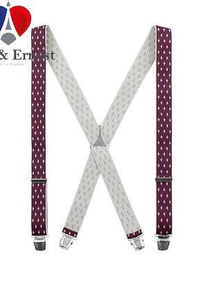 Bretelles spéciales Luce & Ernest, motif Bordeaux