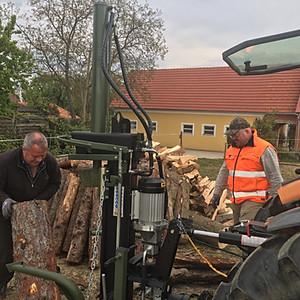 Holzarbeiten beim Chef