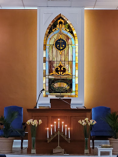 Pulpit with Candles Reno.jpg