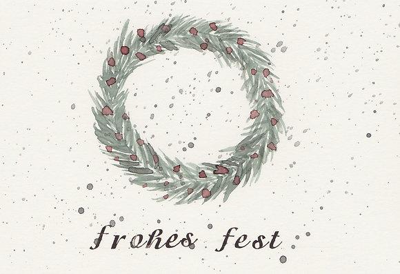 "Kunstpostkarte ""Frohes Fest no. 2"""