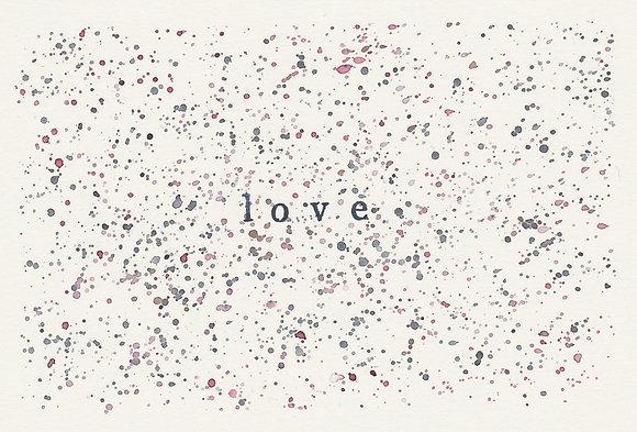 """Postkarte""""love"""""""