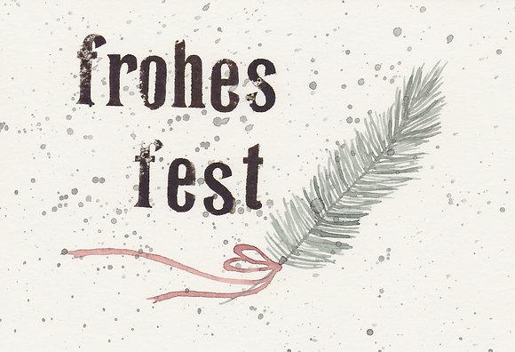"Kunstpostkarte ""Frohes Fest no. 3"""