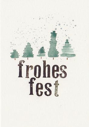 "Kunstpostkarte ""Frohes Fest no. 1"""