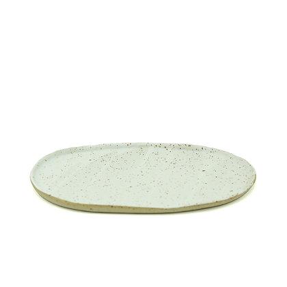 TELLER GESPRENKELT - oval