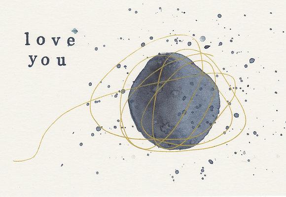 "Postkarte ""love you"""