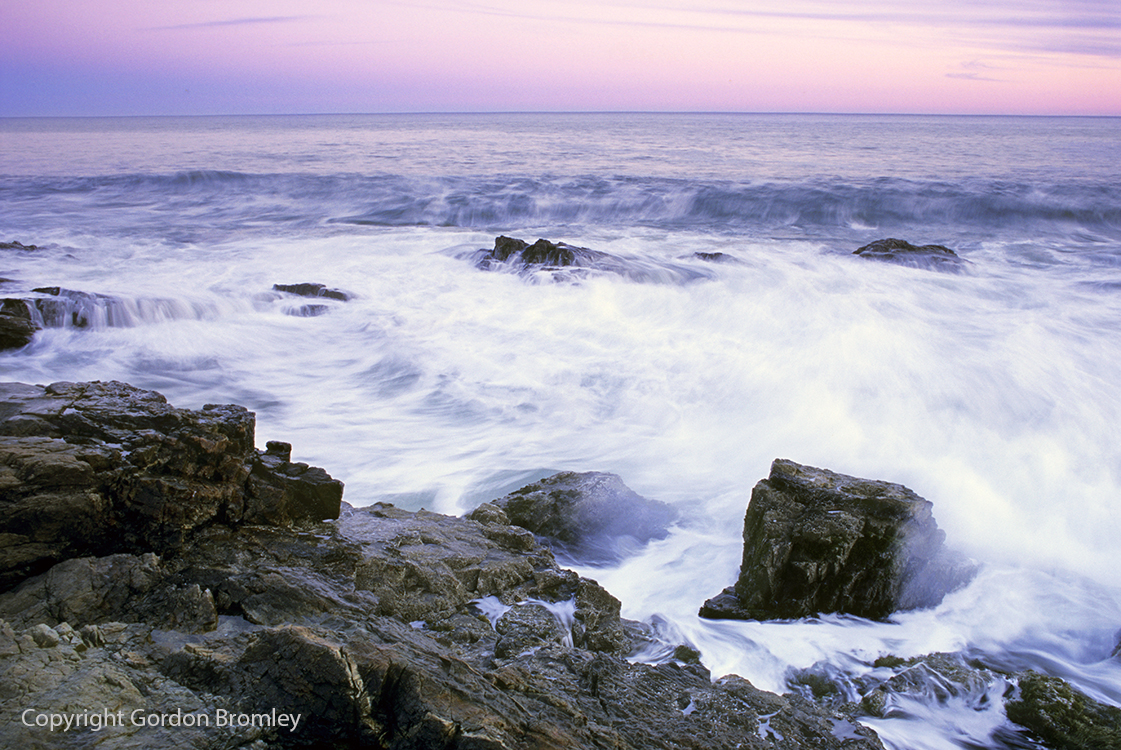 evening swell in the Gulf of Maine