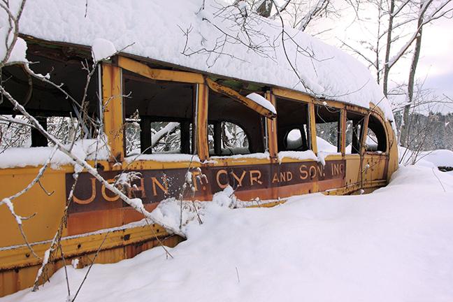 Cyr bus at Caribou Bog