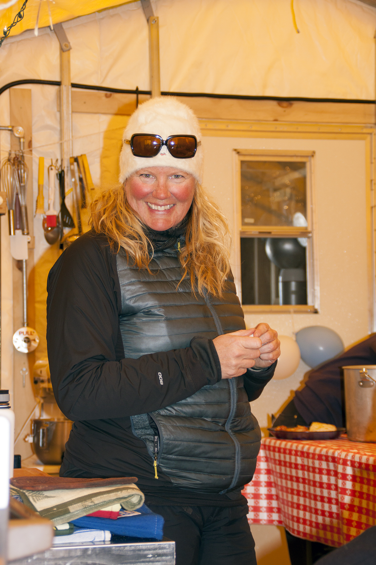 Stacie, Shackleton cook