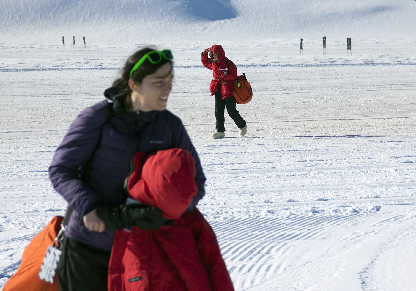 arriving at Shackleton