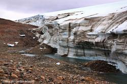 Greenland Ice sheet meets rock