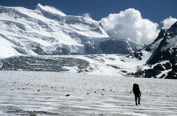 Mark en route to the Grand Combin